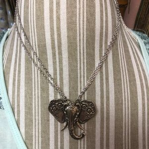 NWT STERLING SILVER ELEPHANT NECKLACE